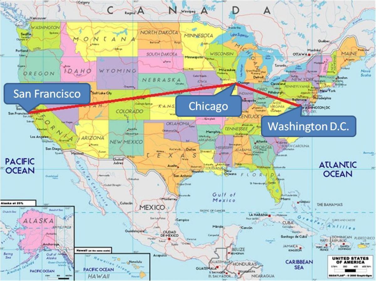 Chicago On The Map Of Usa.Chicago Sou Map De Usa Chicago Sou Usa Kat Jeyografik Etazini Nan